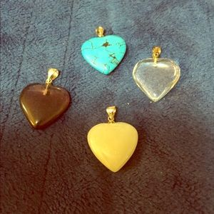 Jewelry - Four heart charms for necklace or bracelet